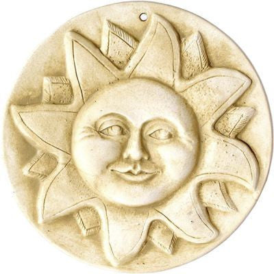 Handcrafted Sun Face Stepping Stone/Plaque