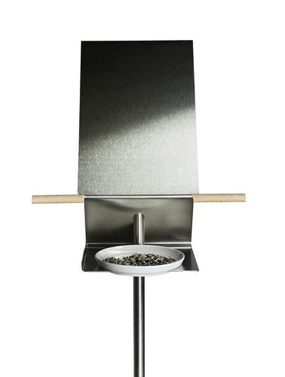 Contemporary Bird Bath-Bird Feeder Side View