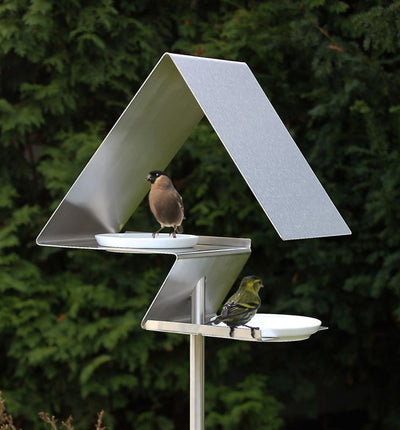Tall Fly-Thru Bird Bath-Bird Feeder