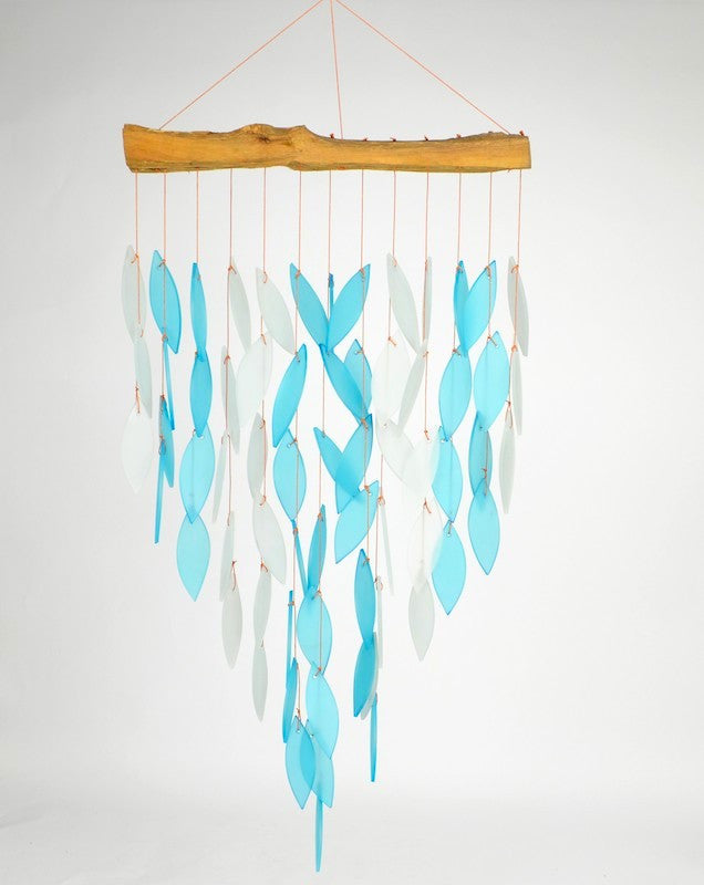 Waterfall Windchime-Glass and Driftwood
