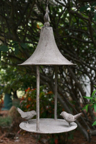 Weathered Fly-Thru Bird Feeder