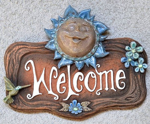Ceramic Sun Welcome Plaque