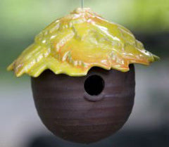 Ceramic Gourd Bird Feeder-5 Fun Colors
