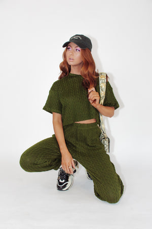 Thea Knit Top || Green
