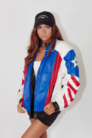 RARE Vintage Leather USA Eagle Jacket
