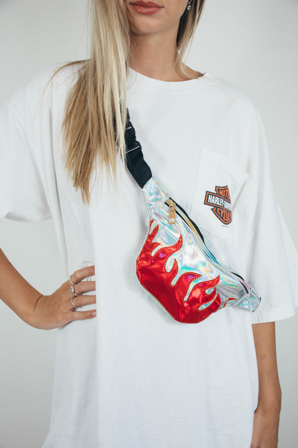 Flame Bumbag || Holographic
