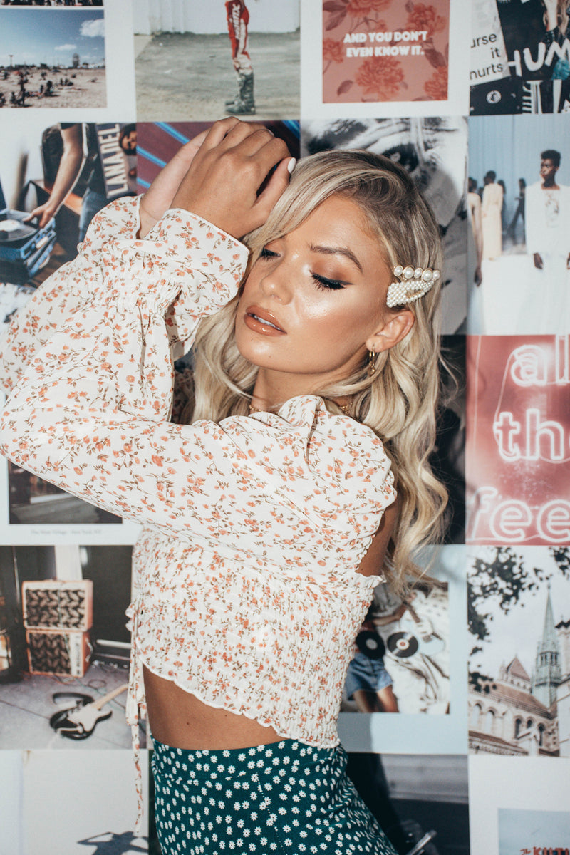 The Jami Crop in Floral