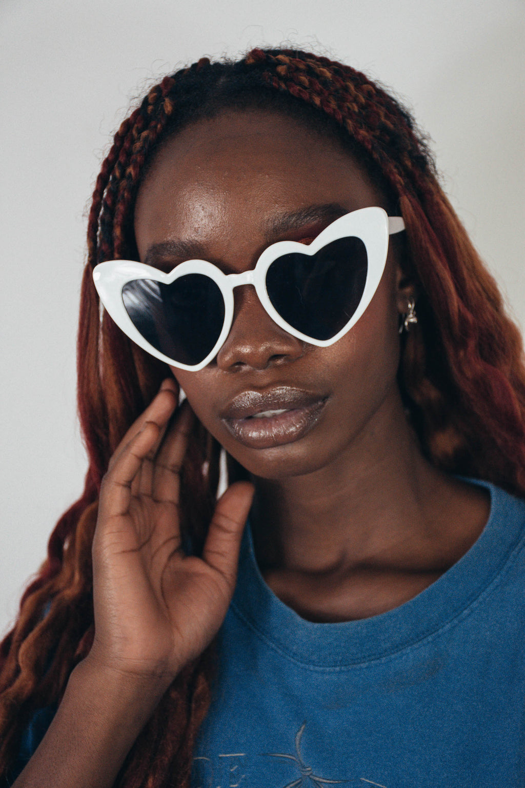 Heart Eyes Sunglasses || White