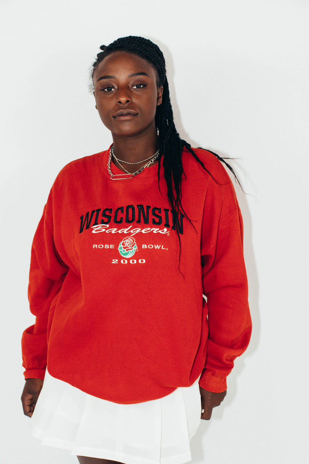 Vintage Sweatshirt || Wisconsin Badgers || Large