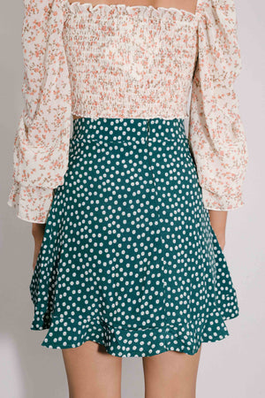 Sure Thing Skirt || Daisy Forest
