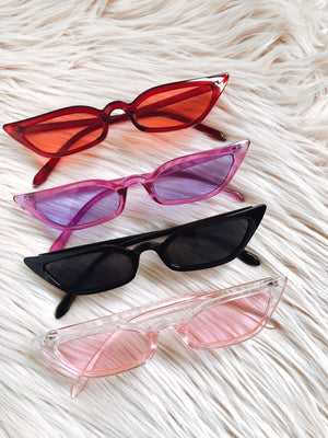 Zoe Sunglasses || Red