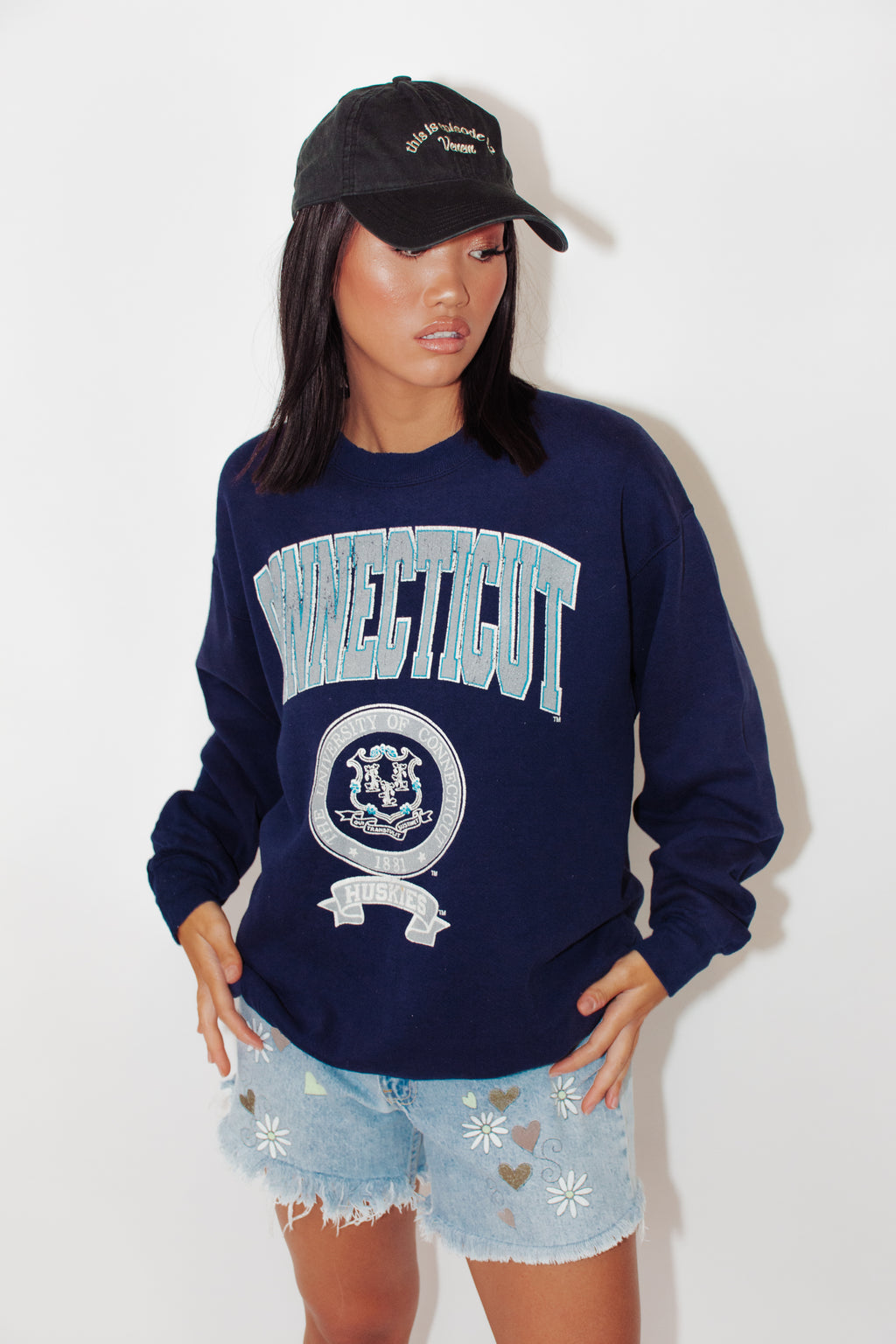 Vintage Sweater || University of Connecticut