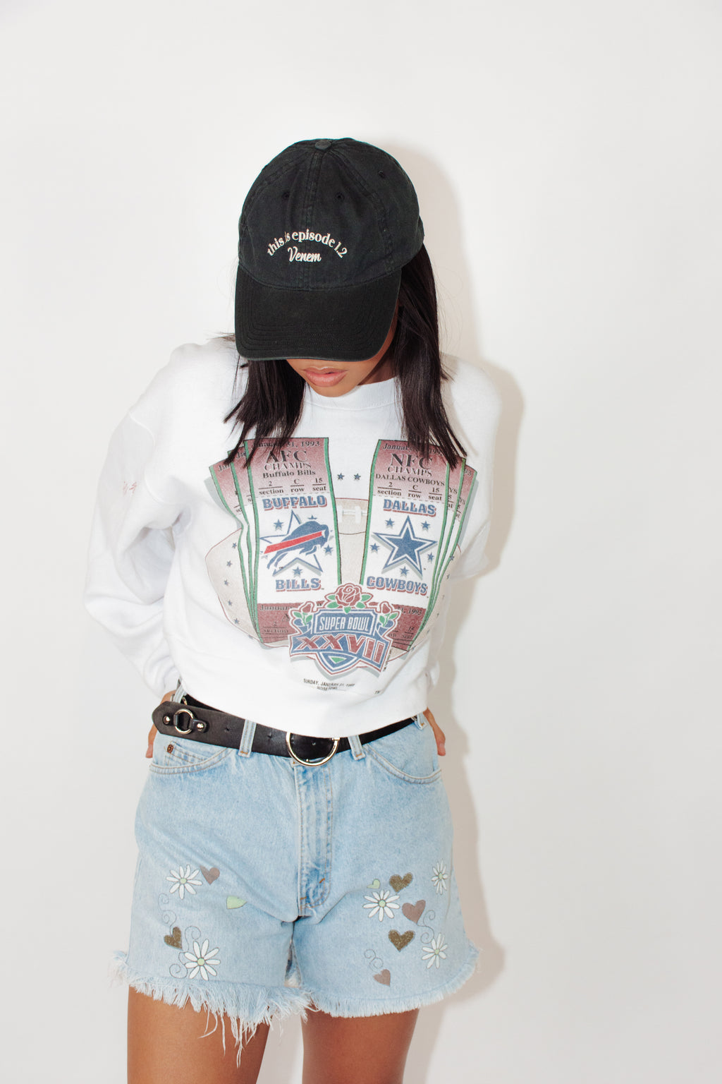 Vintage Sweater || Cropped 1993 Super Bowl