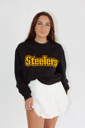 Vintage Sports Sweatshirt || Pittsburgh Steelers || Medium
