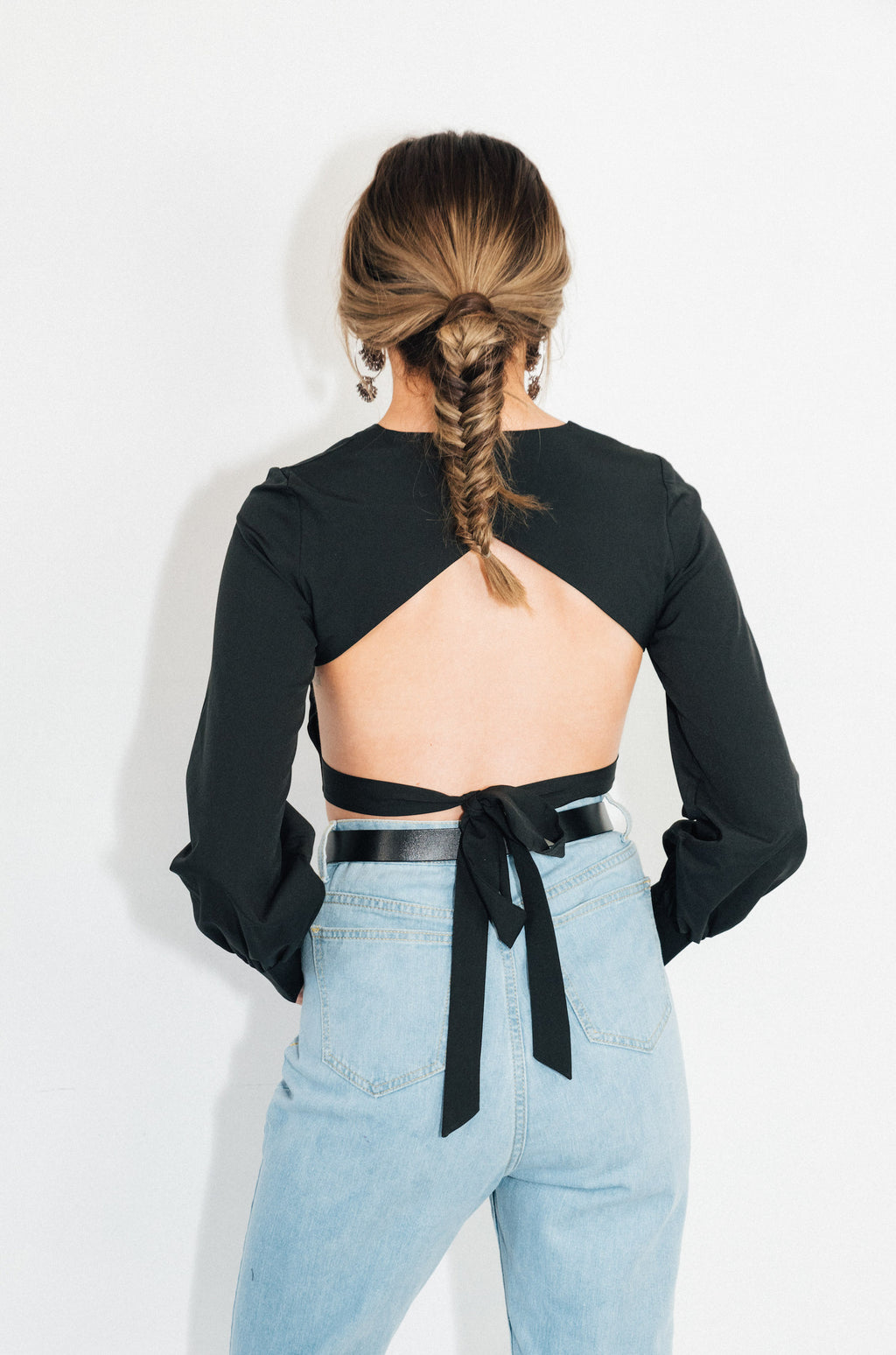Date Night Backless Crop Top