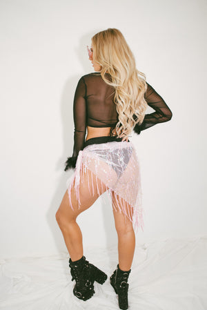 Disco Disco Festival Tie Skirt || Baby Spice Pink