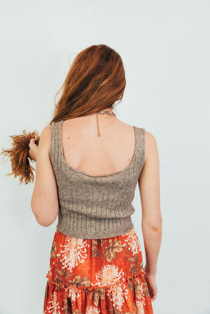 Runaway Summer Knit Crop Top