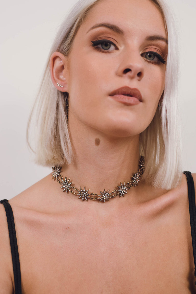 Vintage Gold Star Choker Necklace | SUNSHINE DREAMER ONLINE