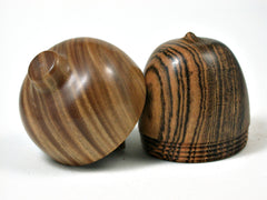 LV-2868  Bocote & Verawood  Acorn Jewelry, Ring Box, Pill Box-SCREW CAP