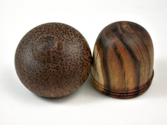 LV-3086  Chittum & Red Palm Acorn Wooden Pill Holder, Ring Box, -SCREW CAP