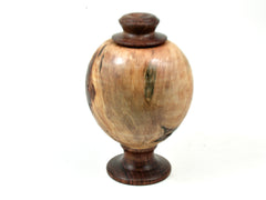 LV-3187 Ponderosa Pine Burl & Chechen Threaded Vessel, Footed Urn-SCREW CAP