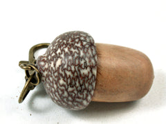 LV-3484 Japanese Sugi & Betelnut Acorn Box, Pill Holder, Memorial Pendant-SCREW CAP