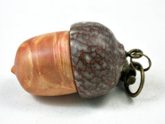 LV-3507 Box Elder Burl & Betel Nut Wooden Acorn Pendant, Charm, Pill Holder-SCREW CAP