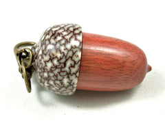 LV-3561  Wooden Acorn Pendant Box  from Satine & Betelnut-SCREW CAP