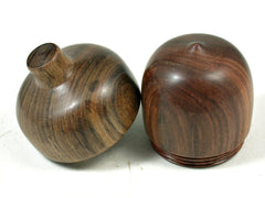 LV-3621   Lignum Vitae & Black Chacate Acorn Jewelry, Engagement Ring Box, Pill Box-SCREW CAP