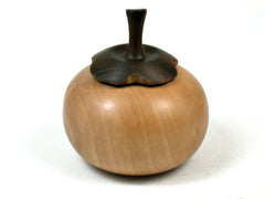 LV-3628  Persimmon Threaded Box from Bradford Pear & Lignum Vitae-SCREW CAP