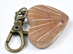 LV-3662 Coast Live Oak Wooden Heart Shaped Charm, Keychain, Wedding Favor-HAND CARVED