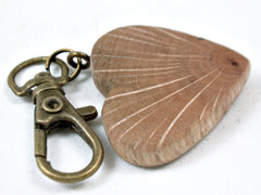 LV-3663 Coast Live Oak Wooden Heart Shaped Charm, Keychain, Wedding Favor-HAND CARVED