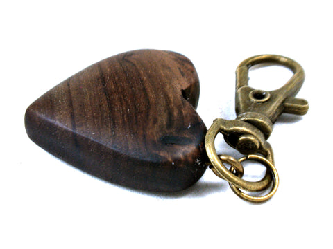 LV-3683 Cocuswood Wooden Heart Charm, Keychain, Wedding Favor-HAND CARVED