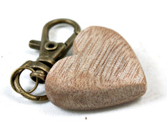 LV-3684  Primavera Wooden Heart Shaped Charm, Keychain, Unique Hand Made