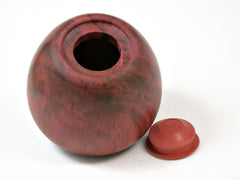 LV-3714  Hand Turned Apple Salt & Pepper Shaker, Secret Compartment from Redheart and Ebony