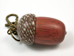 LV-3724  Wooden Acorn Pendant Box  from Satine & Betelnut-SCREW CAP