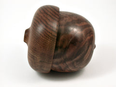 LV-3761  Black Walnut Burl & Chechen Acorn Pill Box, Jewelry, Engagement Ring Box-SCREW CAP