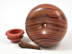 LV-3774  Hand Turned Apple Salt & Pepper Shaker, Secret Compartment from Tulipwood & Koa