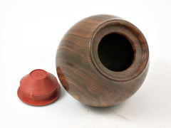 LV-3776  Hand Turned Apple Salt & Pepper Shaker, Secret Compartment from Lignum Vitae & Koa