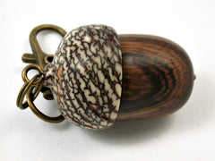 LV-3931  Desert Ironwood & Betelnut Acorn Pendant Box, Charm, Pill Holder-SCREW CAP