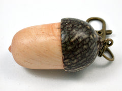 LV-3938 Acorn Pendant Box, Charm, Pill Holder from Bristlecone Pine & Betelnut-SCREW CAP