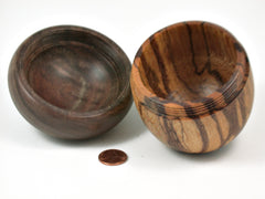 LV-3948 Marblewood & Black Walnut Acorn Jewelry Box, Keepsake-SCREW CAP