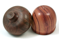 LV-3991  Tulipwood & Walnut Burl Acorn Jewelry Box, Gift Box, Keepsake-SCREW CAP