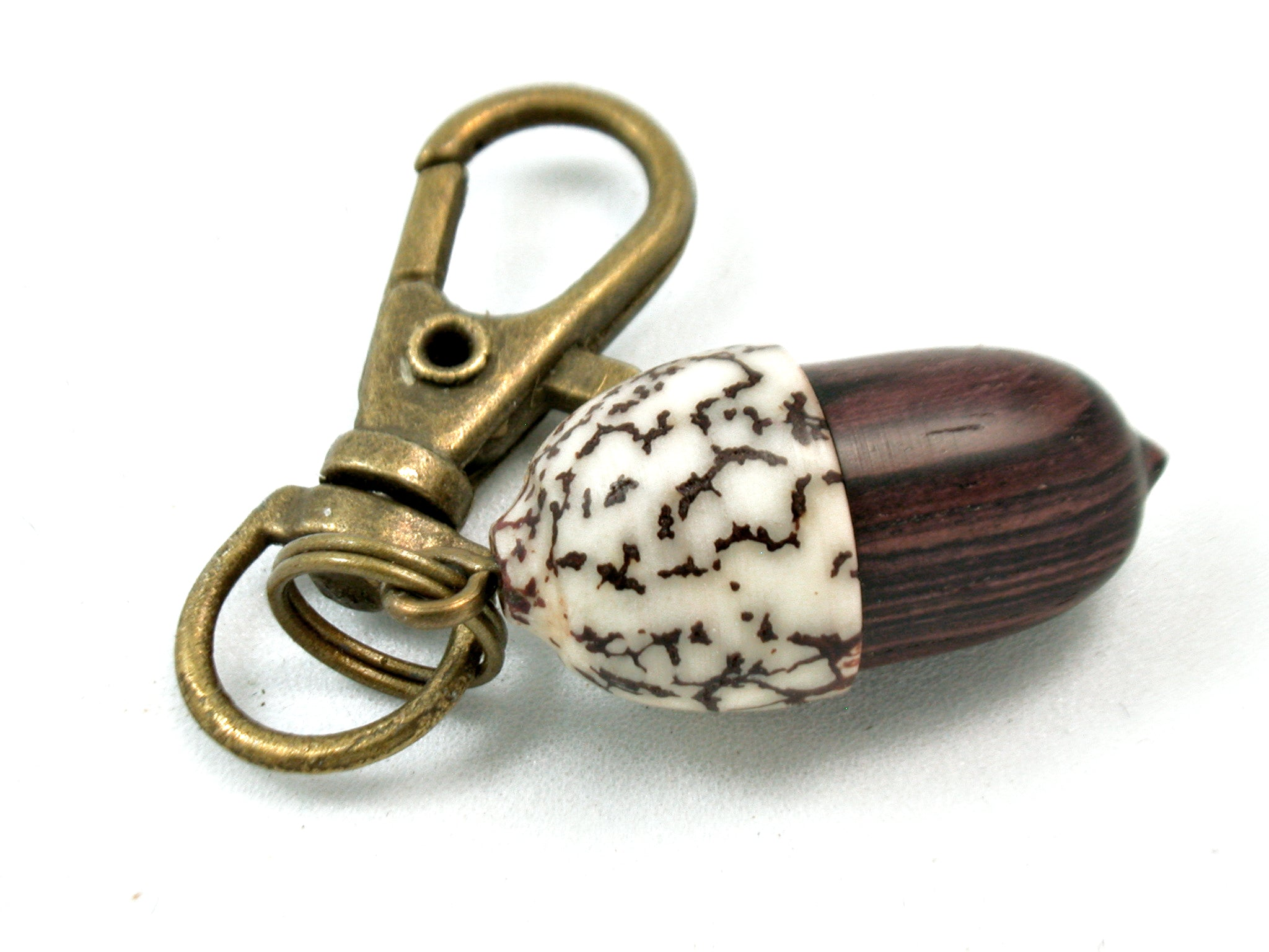 LV-4040 Camatillo & Betelnut  Acorn Pendant Box, Charm, Pill Holder-SCREW CAP