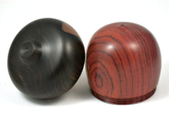LV-4079 Cocobolo Rosewood & Ebony Acorn Jewelry Box, Pill Box, Gift Box-SCREW CAP