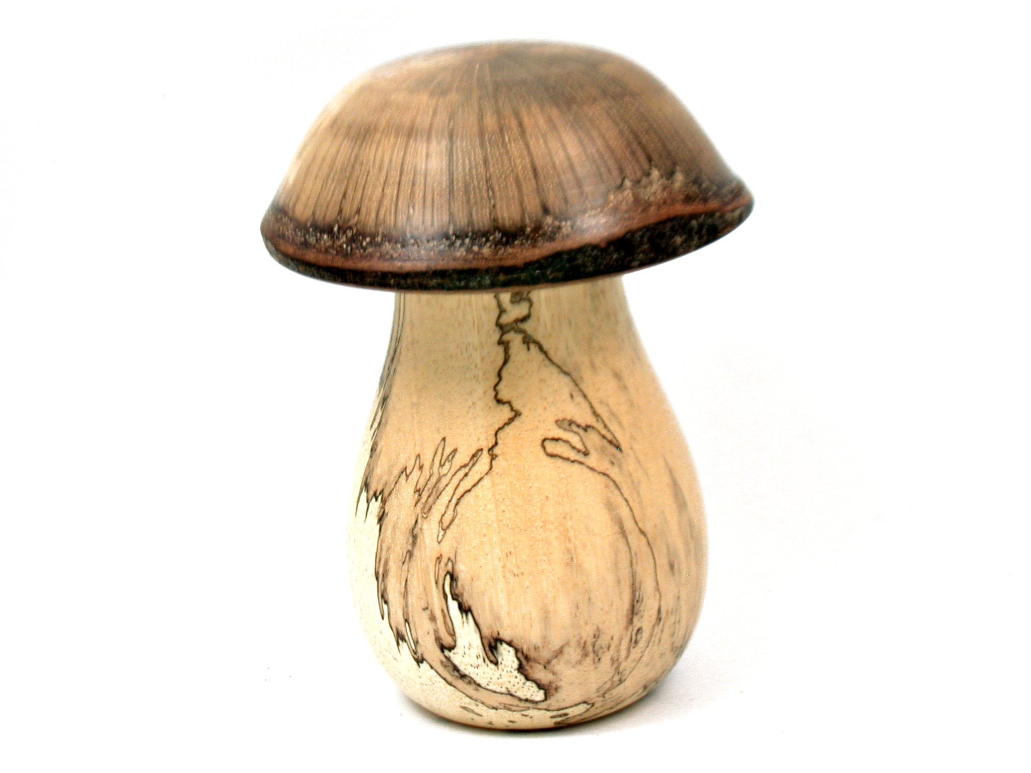 LV-4110  Spalted Tamarind & Live Oak Wooden Mushroom Secret Compartment, Gift Box, Jewelry Box-THREADED