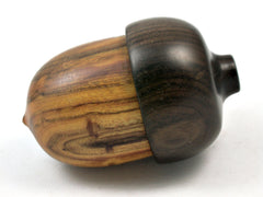 LV-4125 Chittum & Black Chacate Acorn Wooden Pill Holder, Ring Box-SCREW CAP