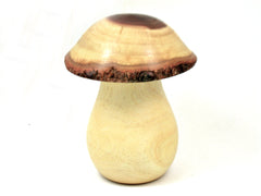 LV-4128 Threaded Mushroom Box, Pill, Jewelry Box from Willow Acacia Wood-LARGE!