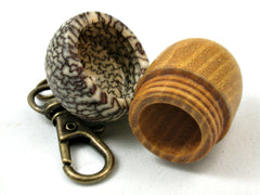 LV-4129  Osage Orange & Betel Nut Acorn Pendant Box, Keychain, Pill Fob-SCREW CAP