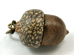 LV-4131 Pollyanna Burl & Betel Nut Acorn Pendant Box, Charm, Pill Holder-SCREW CAP